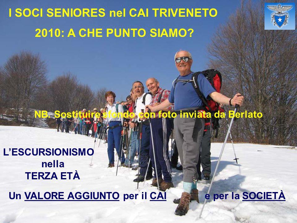I SOCI SENIORES nel CAI TRIVENETO 2010: A CHE PUNTO SIAMO.