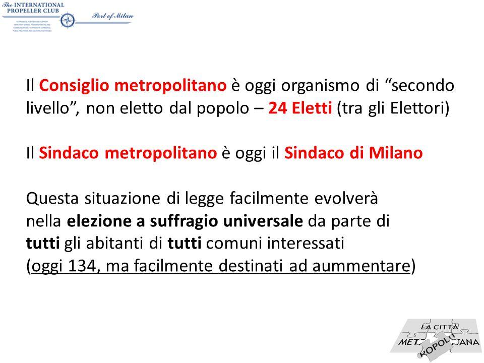 """15 Il Consiglio metropolitano è oggi organismo di """"secondo livello"""", non eletto dal popolo – 24 Eletti (tra gli Elettori) Il Sindaco metropolitano è o"""