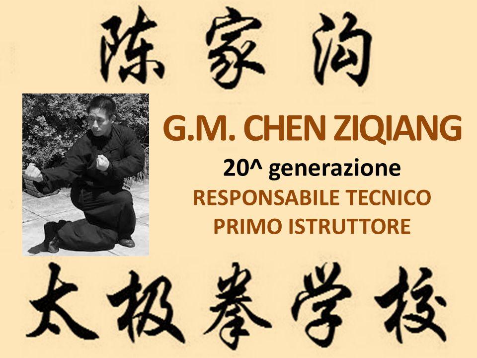 G.M. CHEN ZIQIANG 20^ generazione RESPONSABILE TECNICO PRIMO ISTRUTTORE