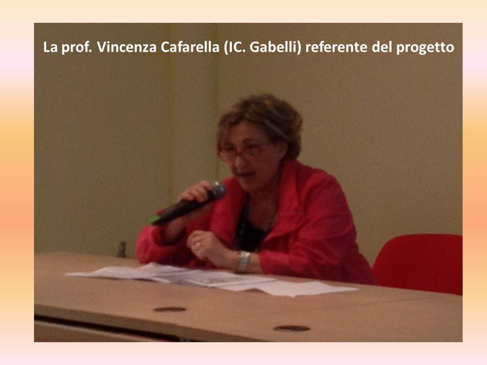 La prof. Vincenza Cafarella (IC. Gabelli) referente del progetto