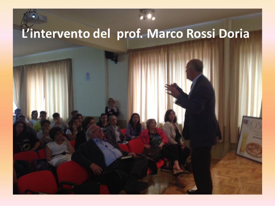 L'intervento del prof. Marco Rossi Doria