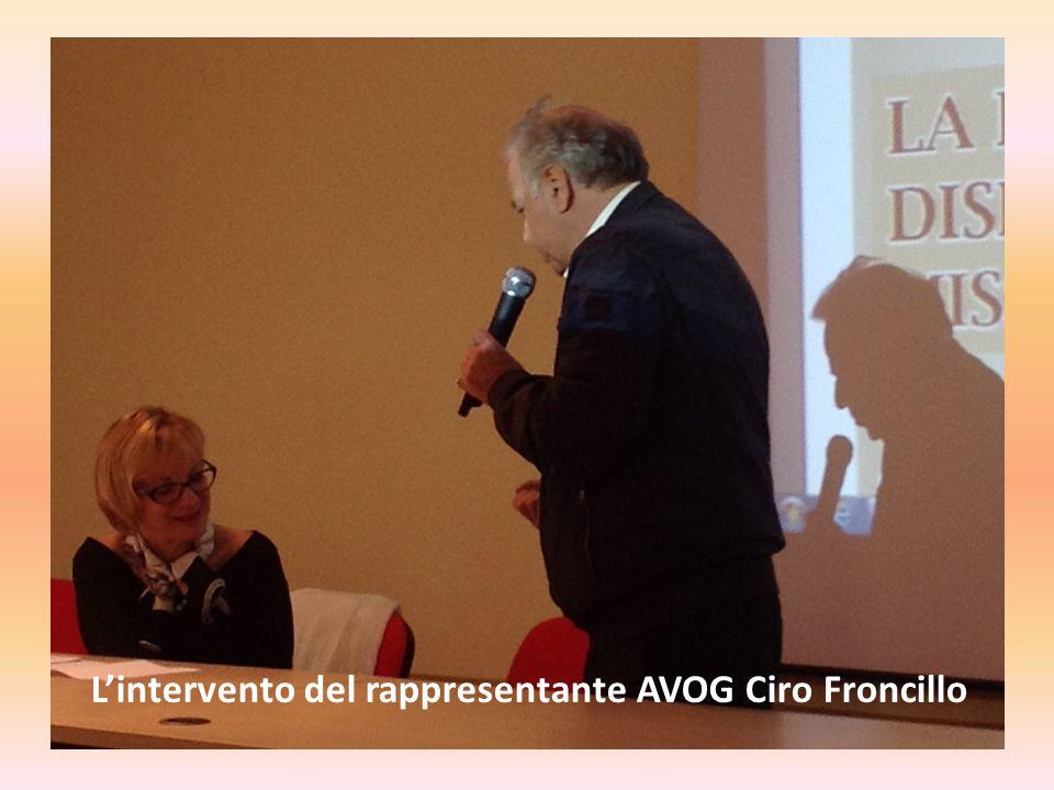 L'intervento del rappresentante AVOG Ciro Froncillo