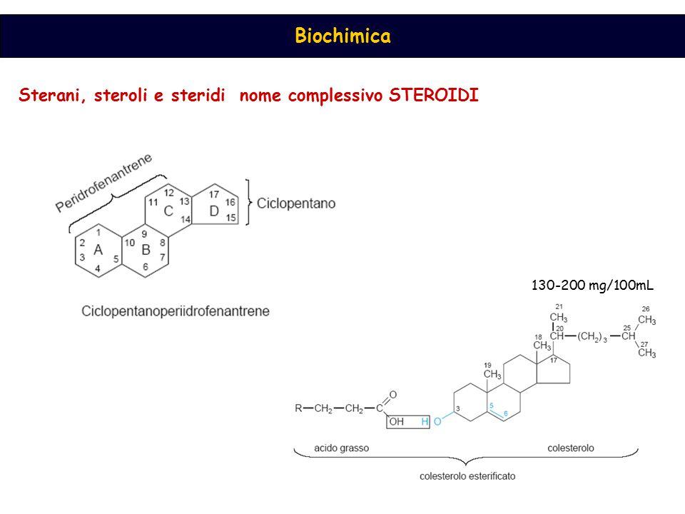 Sterani, steroli e steridi nome complessivo STEROIDI 130-200 mg/100mL