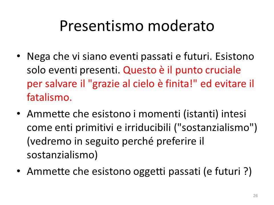 Gli oggetti ex-concreti Trajan...is no longer anywhere; he lacks spatial location:...