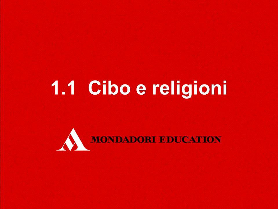1.1 Cibo e religioni