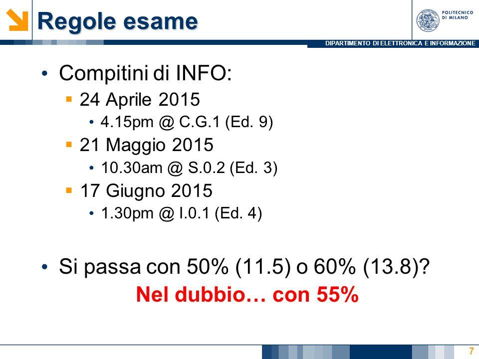 DIPARTIMENTO DI ELETTRONICA E INFORMAZIONE 3.