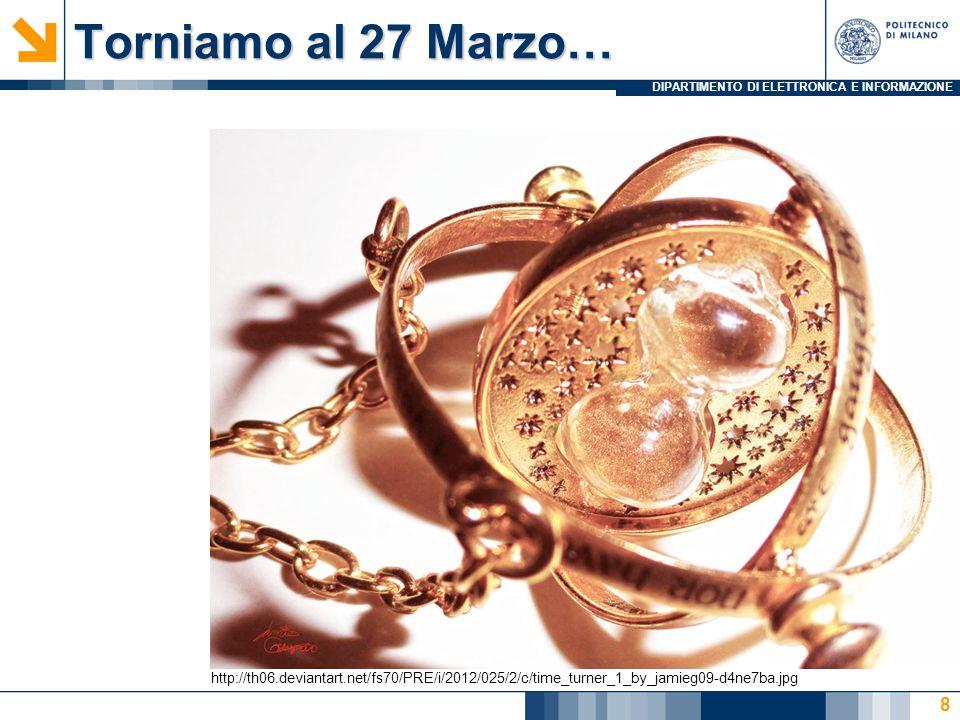 DIPARTIMENTO DI ELETTRONICA E INFORMAZIONE Torniamo al 27 Marzo… 8 http://th06.deviantart.net/fs70/PRE/i/2012/025/2/c/time_turner_1_by_jamieg09-d4ne7ba.jpg