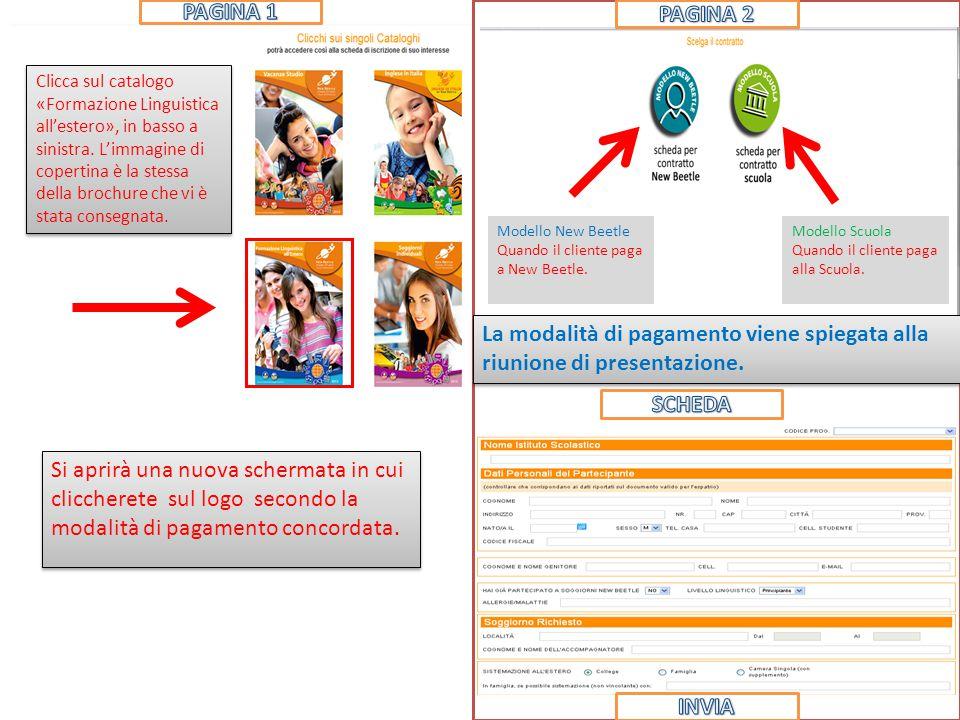 Clicca sul catalogo «Formazione Linguistica all'estero», in basso a sinistra.