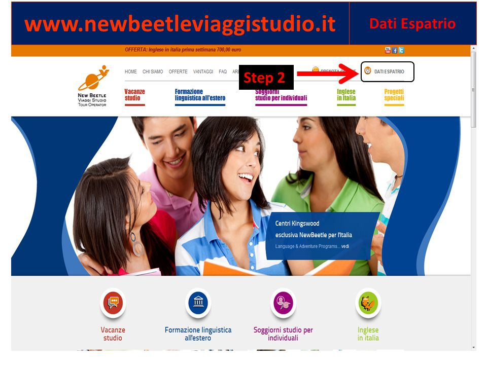 www.newbeetleviaggistudio.it Dati Espatrio Step 2