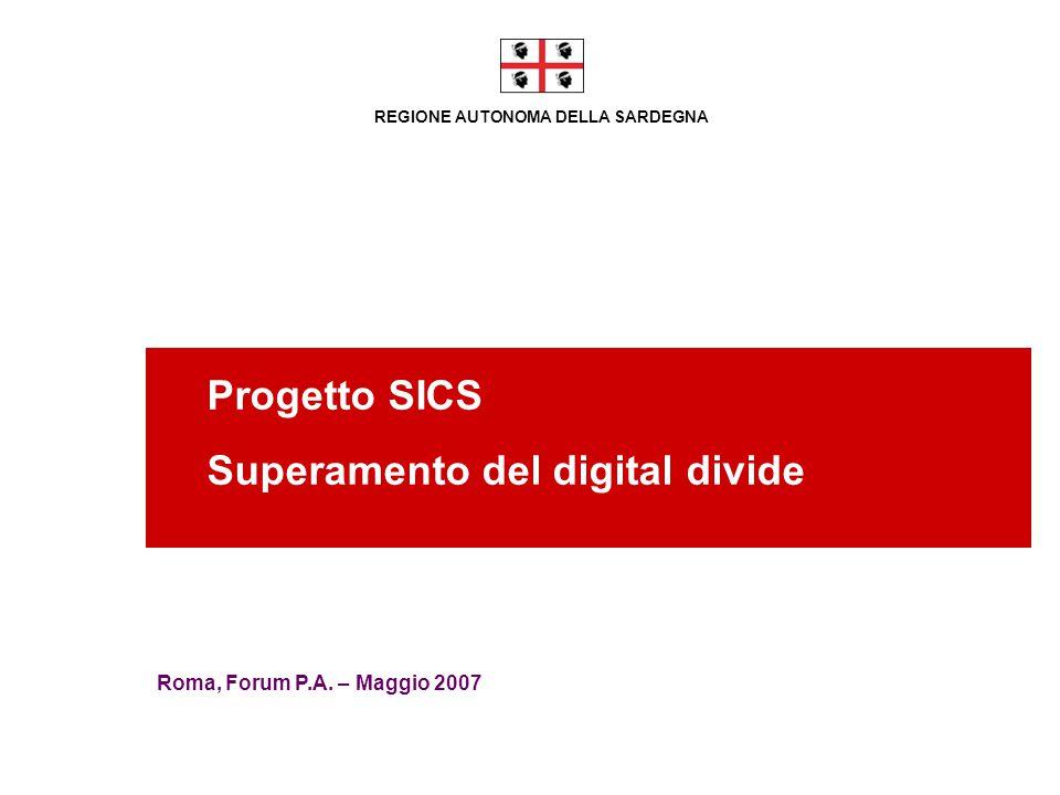 REGIONE AUTONOMA DELLA SARDEGNA Progetto SICS Superamento del digital divide Roma, Forum P.A. – Maggio 2007