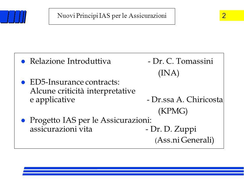 l Relazione Introduttiva - Dr. C.