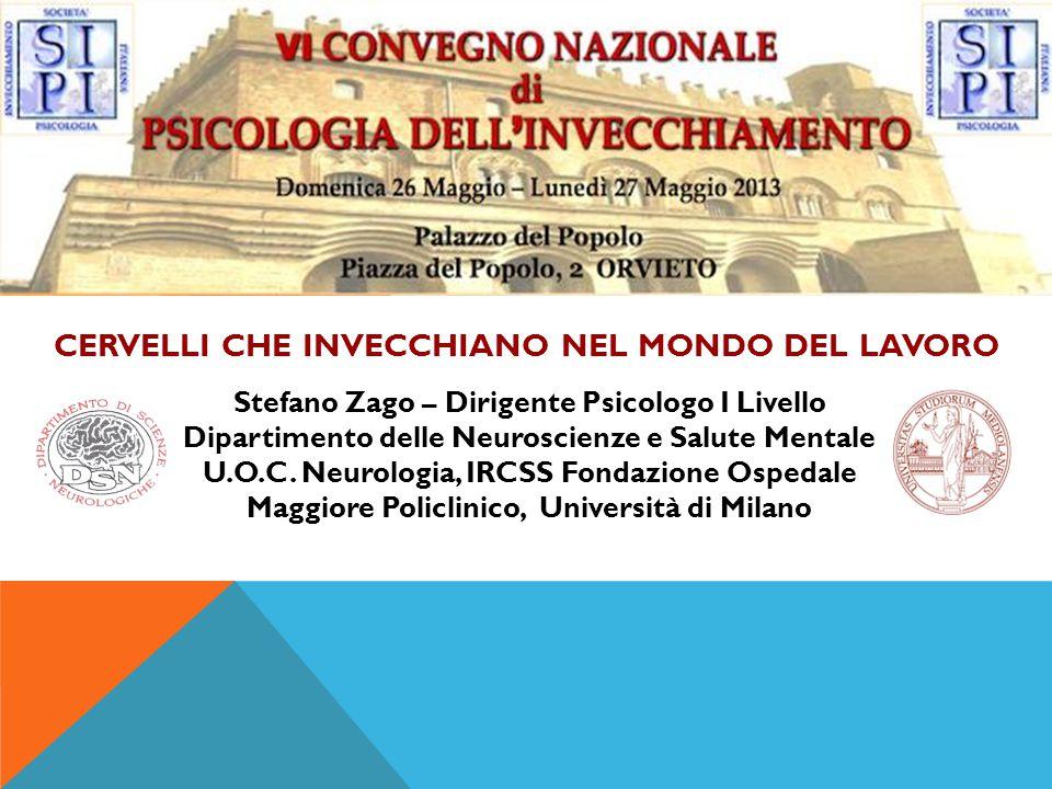 Stefano Zago – Dirigente Psicologo I Livello Dipartimento delle Neuroscienze e Salute Mentale U.O.C.