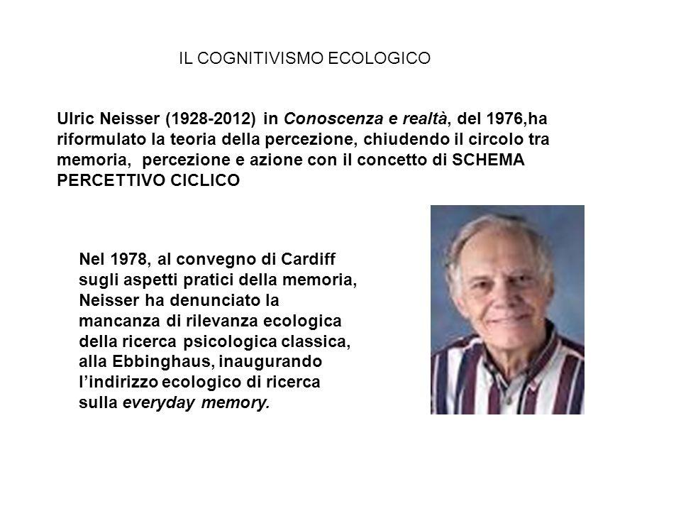 Ulric Neisser (1928-2012) in Conoscenza e realtà, del 1976,ha riformulato la teoria della percezione, chiudendo il circolo tra memoria, percezione e a