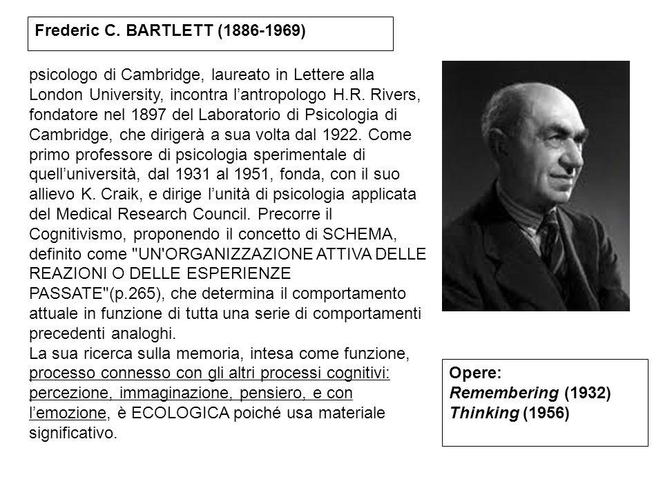 psicologo di Cambridge, laureato in Lettere alla London University, incontra l'antropologo H.R. Rivers, fondatore nel 1897 del Laboratorio di Psicolog