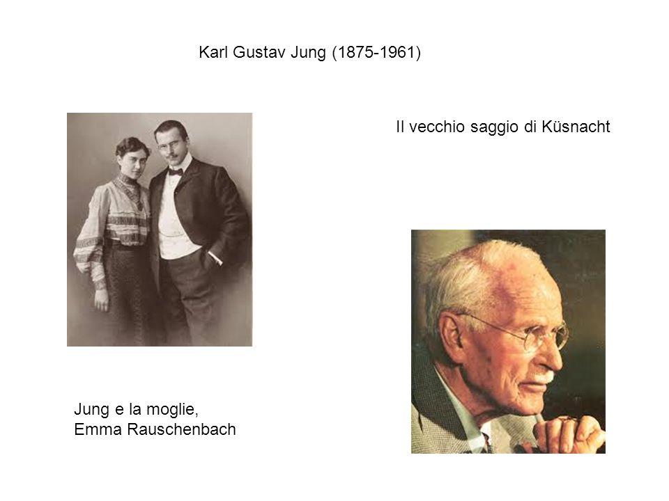 Jung e la moglie, Emma Rauschenbach Il vecchio saggio di Küsnacht Karl Gustav Jung (1875-1961)