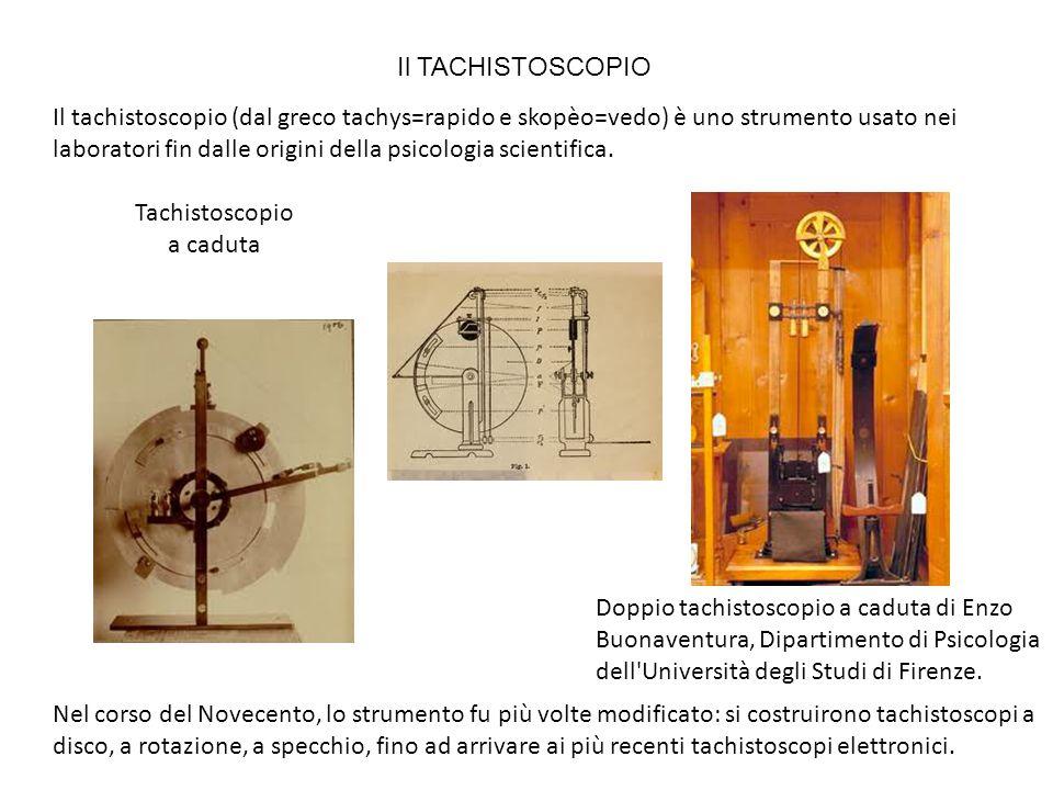 Il tachistoscopio (dal greco tachys=rapido e skopèo=vedo) è uno strumento usato nei laboratori fin dalle origini della psicologia scientifica. Doppio