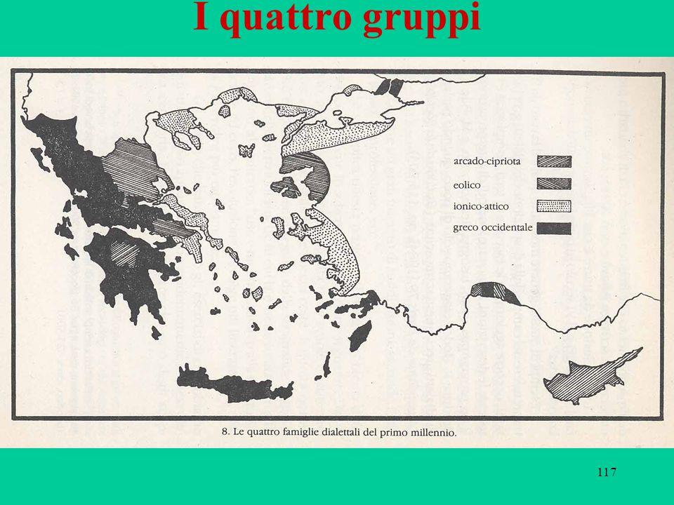 117 I quattro gruppi