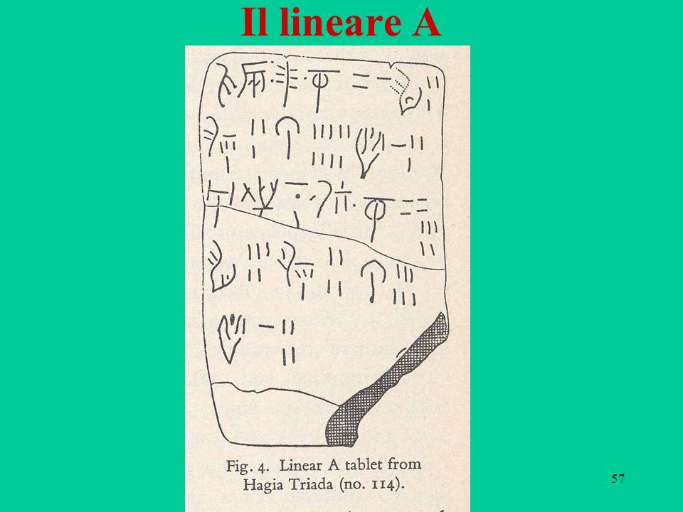 57 Il lineare A