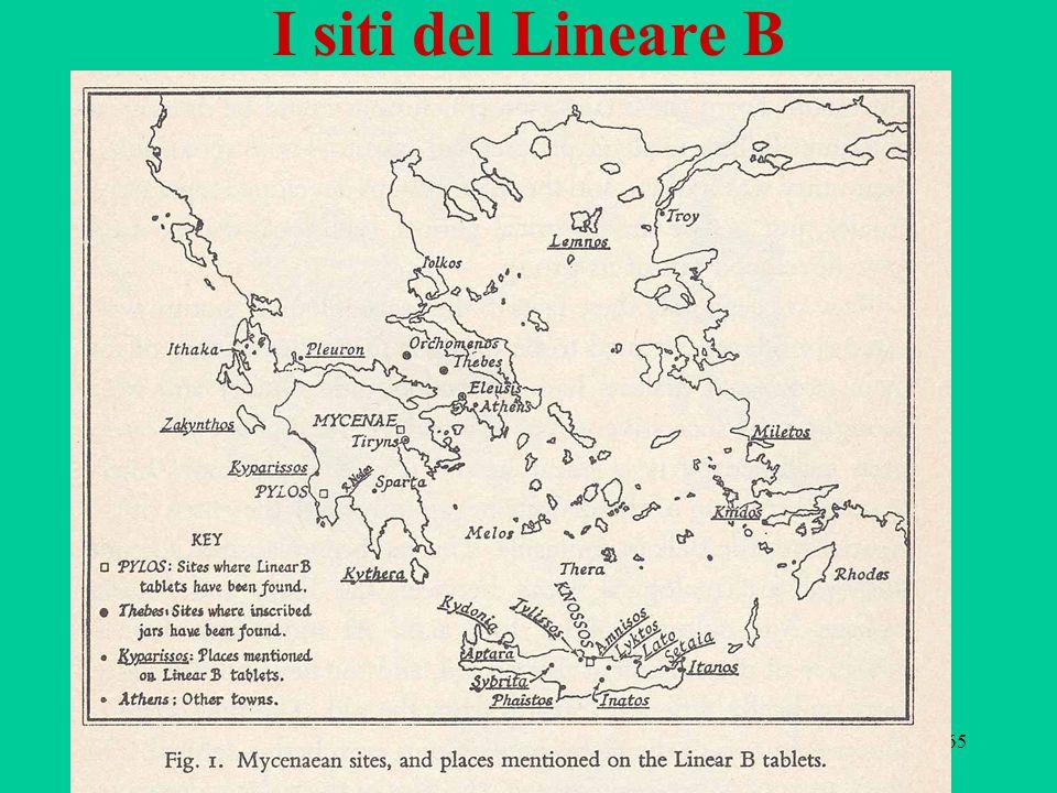 65 I siti del Lineare B