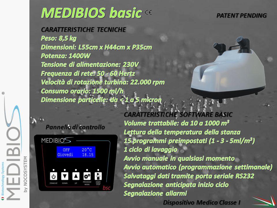 Pannello di controllo Dispositivo Medico Classe I PATENT PENDING