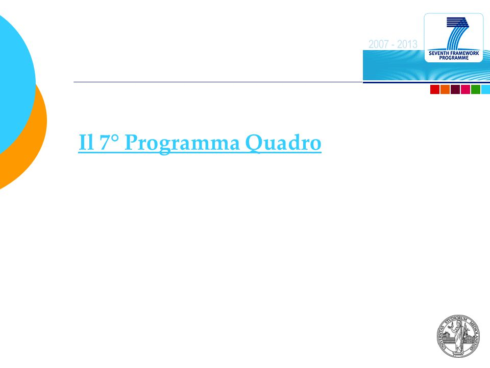 Il 7° Programma Quadro