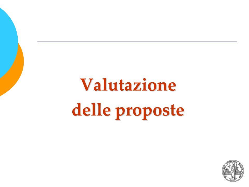 Valutazione delle proposte