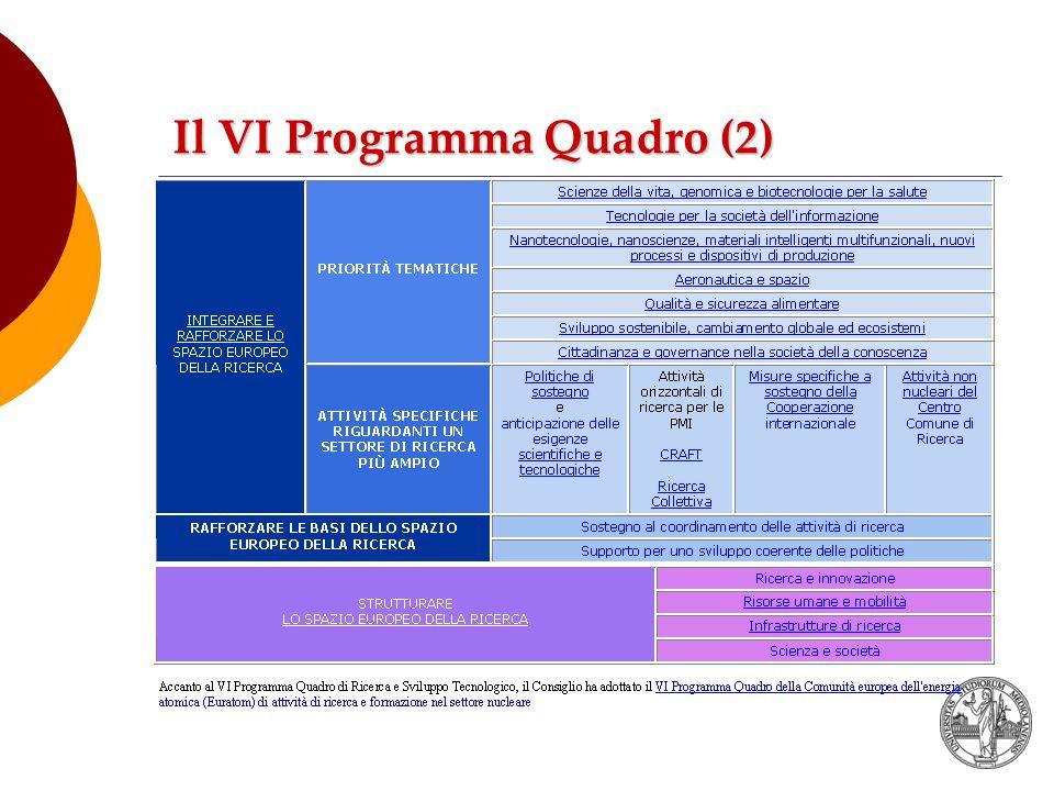 Il VI Programma Quadro (2)