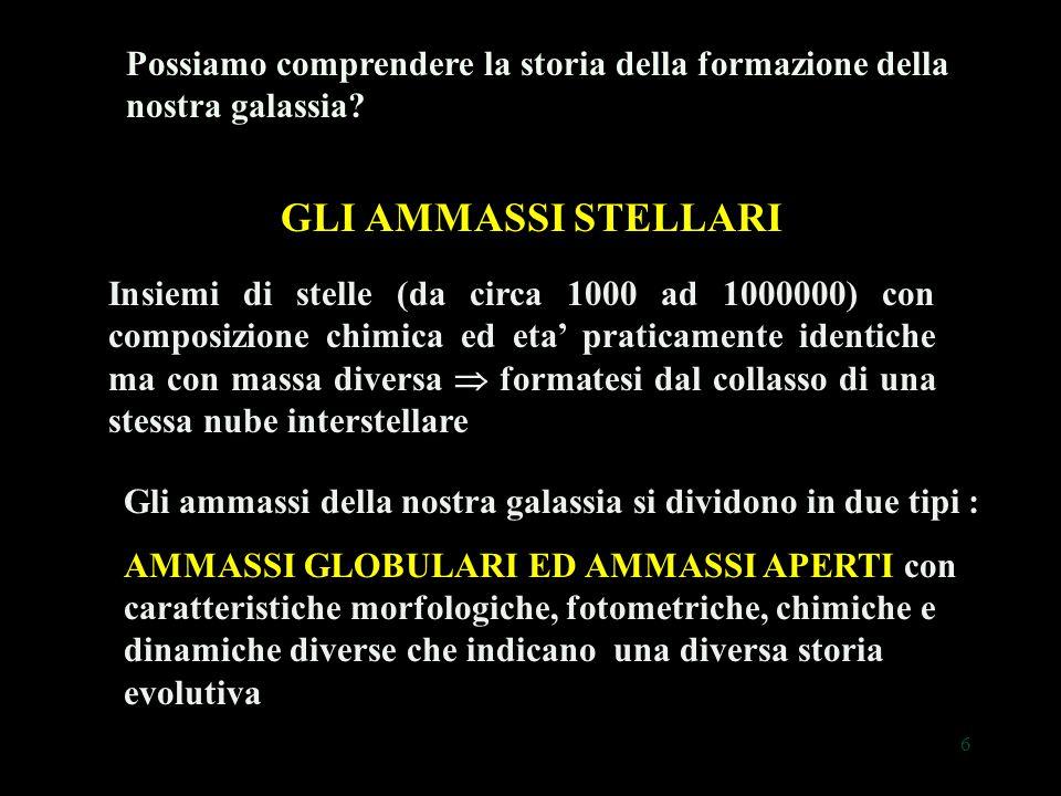 57 Le stelle negli ammassi globulari: stelle sorelle o gemelle monozigote? ?