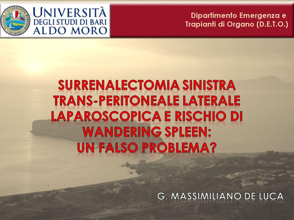 Surrenalectomia sx