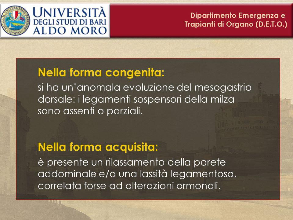 Diagnosi Massa addominale Dolore Riscontro ecografico Riscontro TC