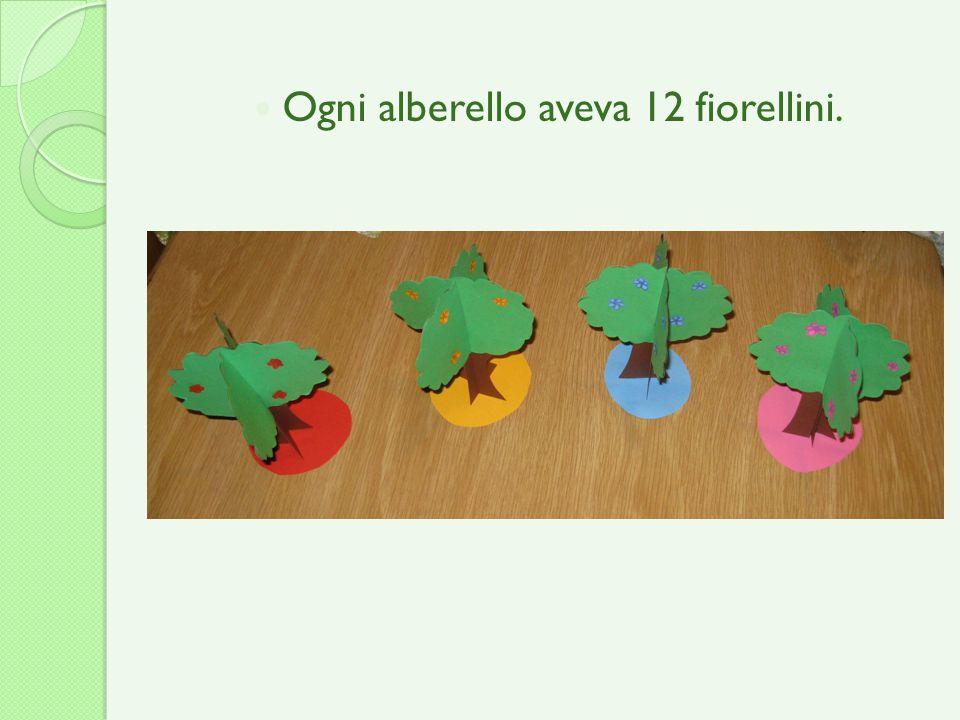 Ogni alberello aveva 12 fiorellini.