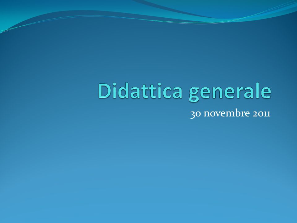 30 novembre 2011