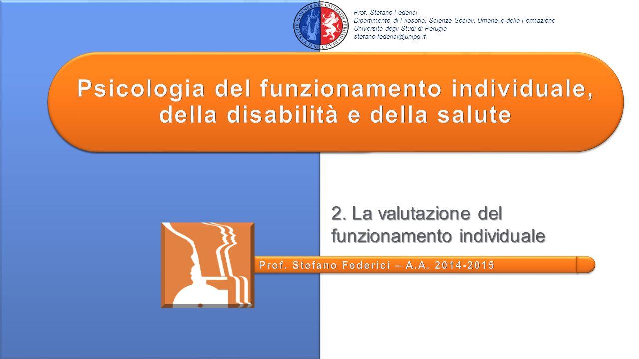 La Vineland: Appendice A – Socializzazione Socializzazione – Relazioni interpersonali Età 13-18≥ Prof.