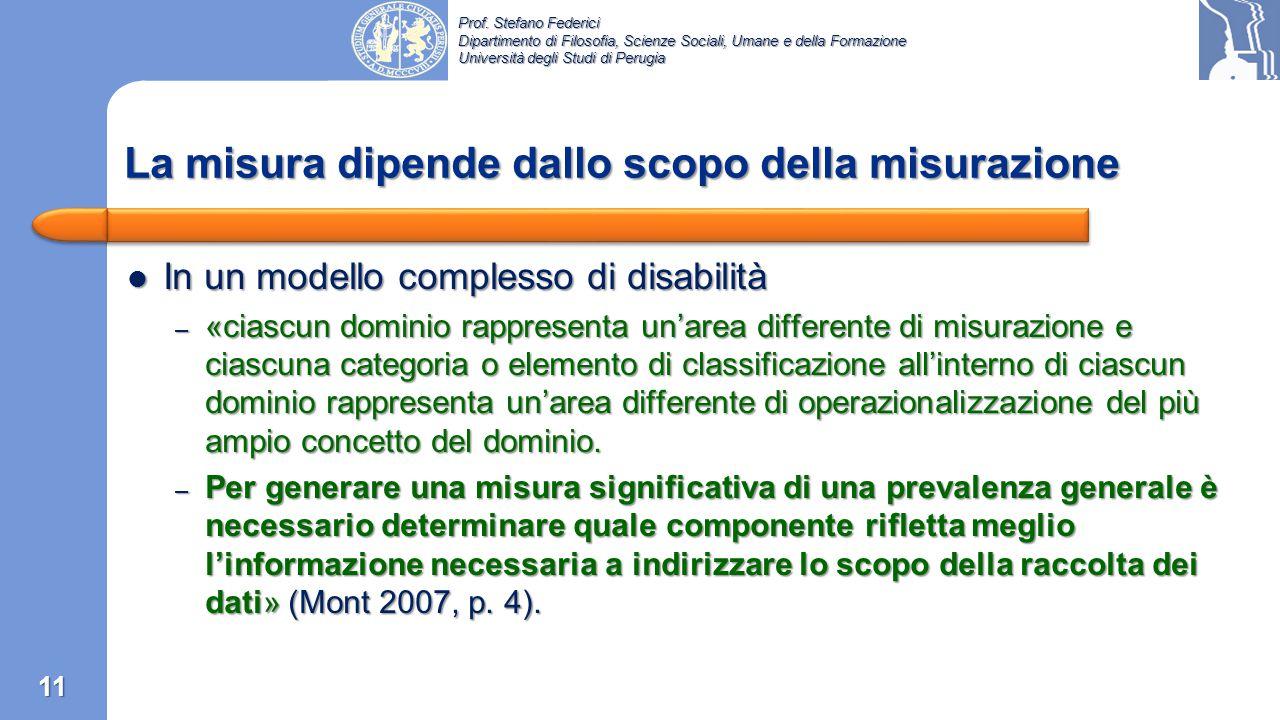 Prof. Stefano Federici Dipartimento di Filosofia, Scienze Sociali, Umane e della Formazione Università degli Studi di Perugia Nel 2001 fu organizzato