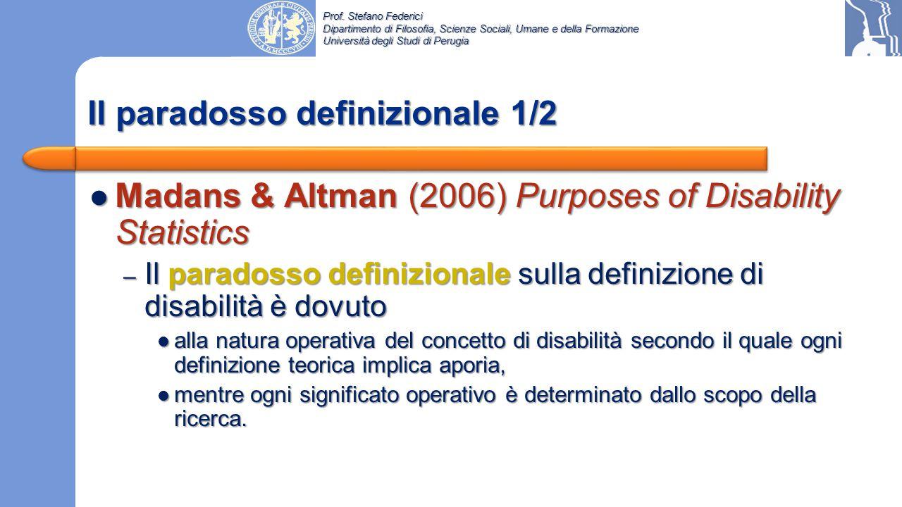 Prof. Stefano Federici Dipartimento di Filosofia, Scienze Sociali, Umane e della Formazione Università degli Studi di Perugia In un modello complesso