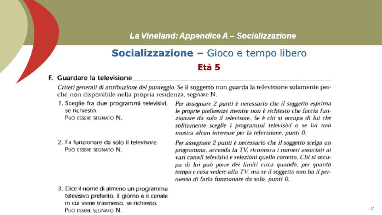 La Vineland: Appendice A – Socializzazione Socializzazione – Relazioni interpersonali Età 13-18≥ Prof. Stefano Federici131