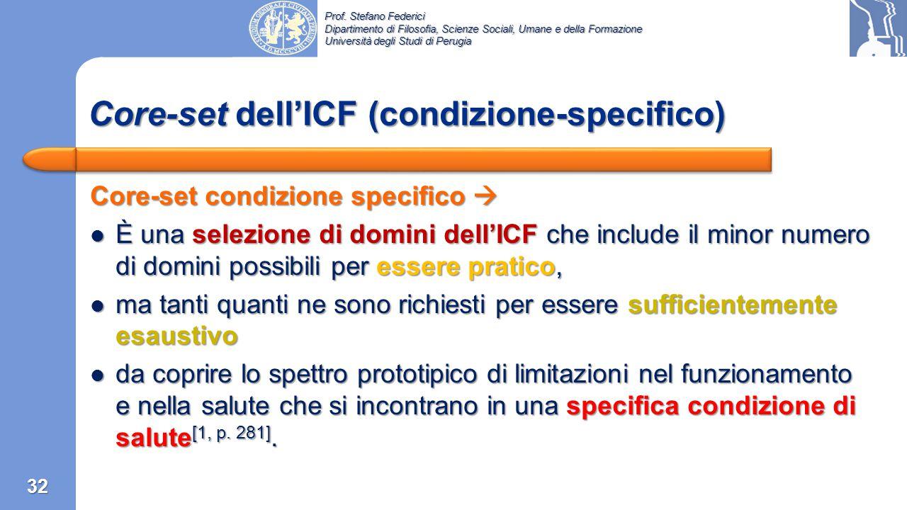 Prof. Stefano Federici Dipartimento di Filosofia, Scienze Sociali, Umane e della Formazione Università degli Studi di Perugia 31