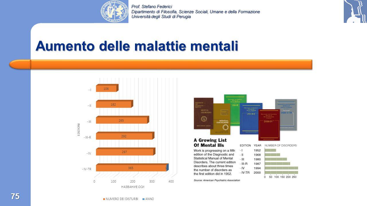 Prof. Stefano Federici Dipartimento di Filosofia, Scienze Sociali, Umane e della Formazione Università degli Studi di Perugia 74