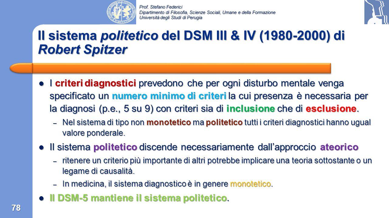 Prof. Stefano Federici Dipartimento di Filosofia, Scienze Sociali, Umane e della Formazione Università degli Studi di Perugia Il sistema multiassiale