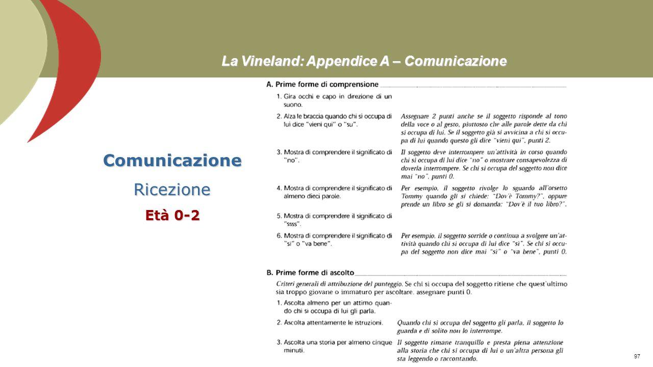 Tabella 2: Categorizzazione dei contenuti dei cluster degli item 8/8 Scala e subscale CategoriaCluster ABILITÀ MOTORIE Grossolane Stare seduto A. Star