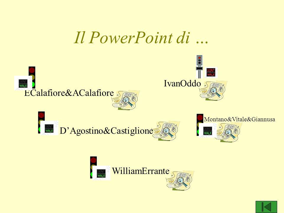 Il PowerPoint di … ECalafiore&ACalafiore D'Agostino&Castiglione WilliamErrante IvanOddo Montano&Vitale&Giannusa