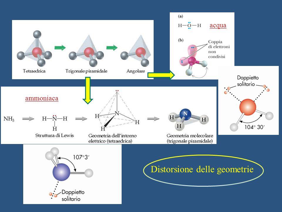 Distorsione delle geometrie ammoniaca acqua