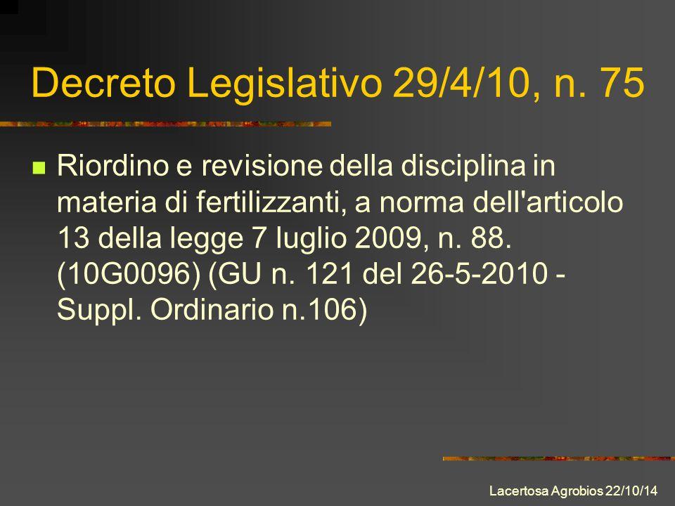 Decreto Legislativo 29/4/10, n.