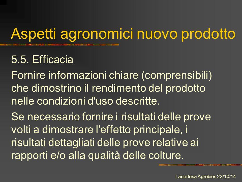 Aspetti agronomici nuovo prodotto 5.5.