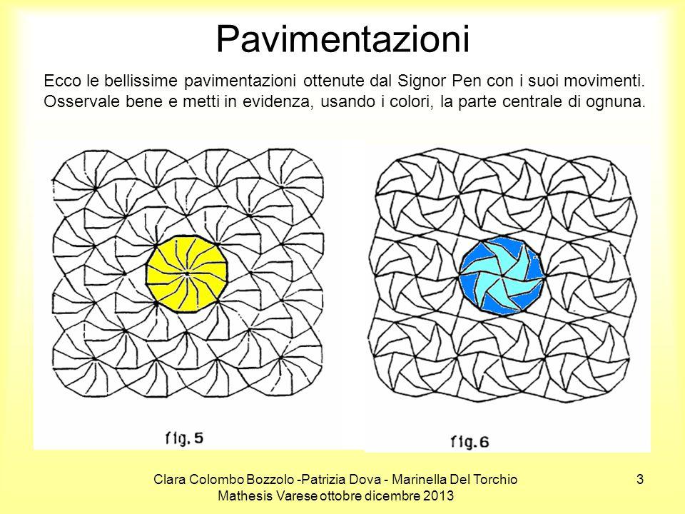 Clara Colombo Bozzolo -Patrizia Dova - Marinella Del Torchio Mathesis Varese ottobre dicembre 2013 3 Pavimentazioni Ecco le bellissime pavimentazioni