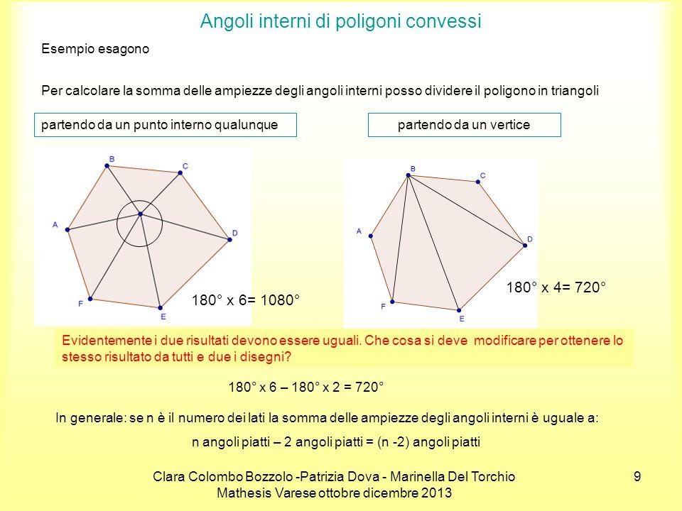 Clara Colombo Bozzolo -Patrizia Dova - Marinella Del Torchio Mathesis Varese ottobre dicembre 2013 20 Calcola l'area del pentagono ABCDE.