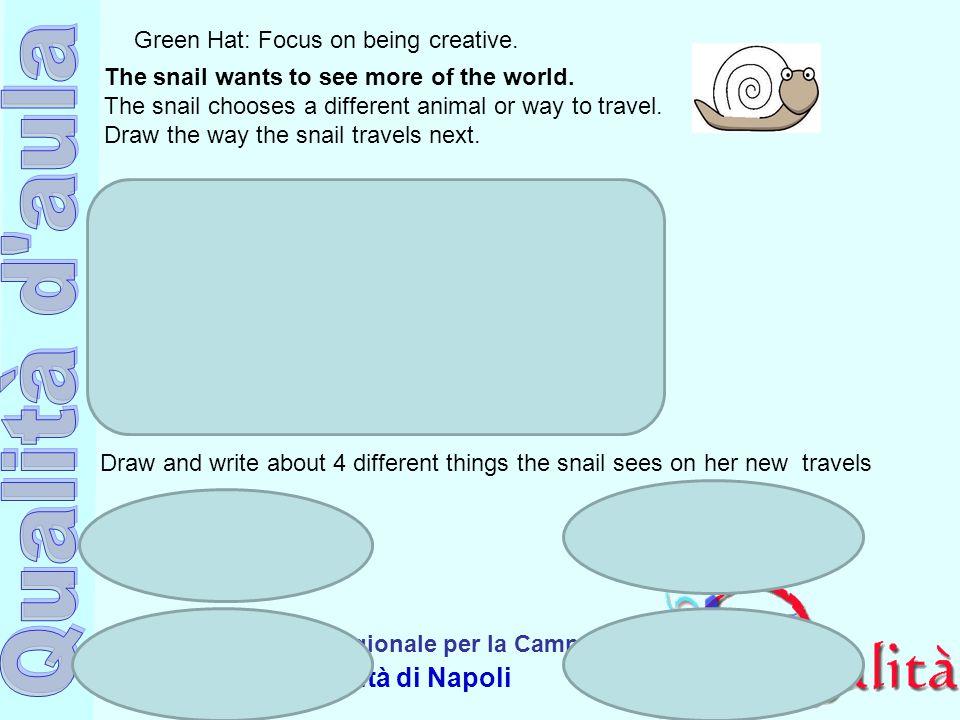 Ufficio Scolastico Regionale per la Campania Polo Qualità di Napoli Green Hat: Focus on being creative.