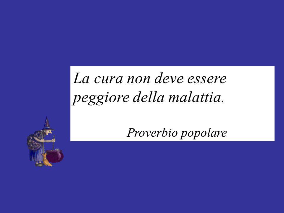 La cura non deve essere peggiore della malattia. Proverbio popolare