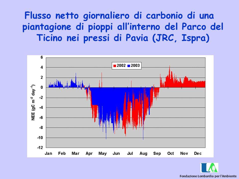 Fondazione Lombardia per l'Ambiente Flusso netto giornaliero di carbonio di una piantagione di pioppi all'interno del Parco del Ticino nei pressi di P