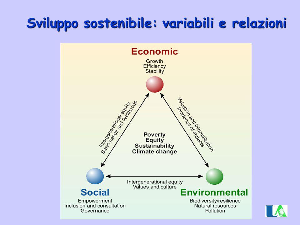 Sviluppo sostenibile: variabili e relazioni